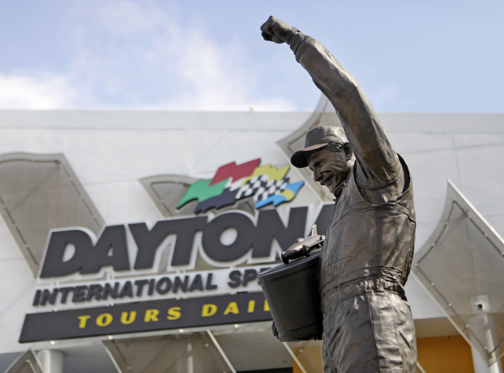 A statue of Dale Earnhardt rises above an entrance at Daytona International Speedway on Feb. 16, 2011 in Daytona Beach, Florida. On the cusp of a national popularity explosion, NASCAR never stopped after the deaths of Adam Petty, Kenny Irwin Jr. and Tony Roper. But losing Earnhardt forced the stock car series to confront safety issues it had been slow to even acknowledge, let alone address. The dramatic upgrades have saved multiple lives — NASCAR has not suffered a racing death in its three national series since — and are the hallmark of Earnhardt's legacy.