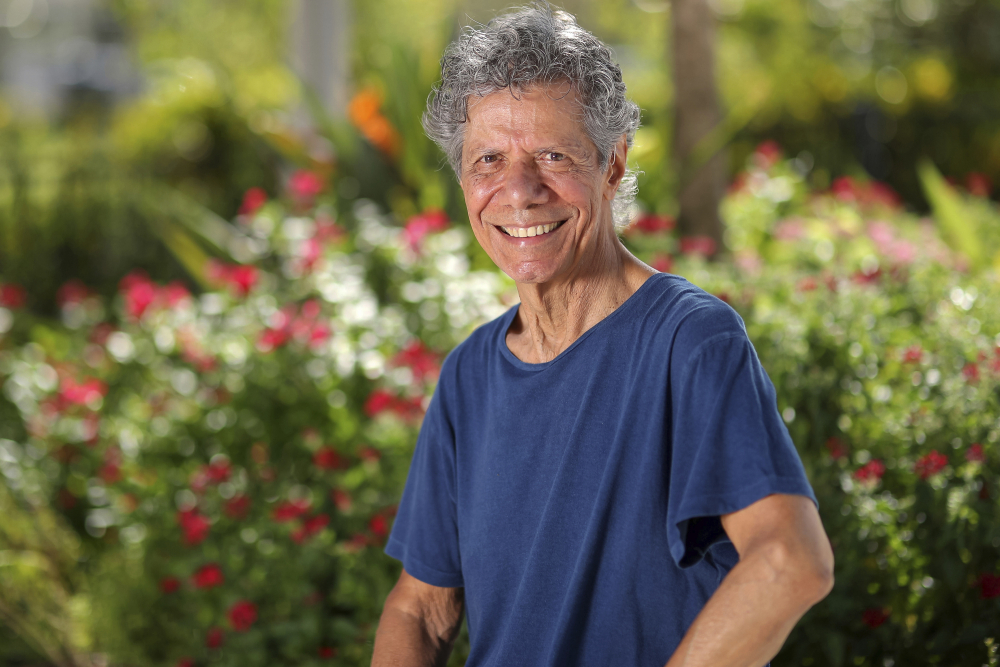 Jazz pianist and composer Chick Corea, shown in  Clearwater, Fla., in September 2020, has died. He was 79.