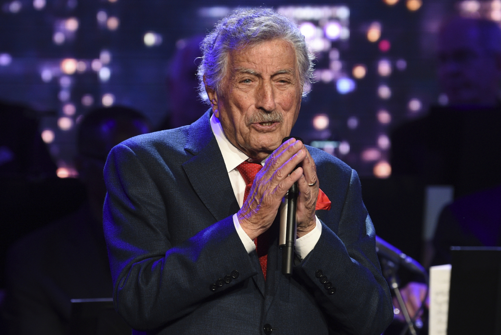 Singer Tony Bennett performs at the Statue of Liberty Museum opening celebration in New York on May 15, 2019. Bennett's family revealed that the crooner was  diagnosed with Alzheimer's disease four years ago.