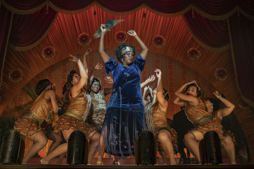 "This image released by Netflix shows Viola Davis in ""Ma Rainey's Black Bottom."" The Screen Actors Guild has nominated the cast for a SAG Award for outstanding performance by a cast in a motion picture."