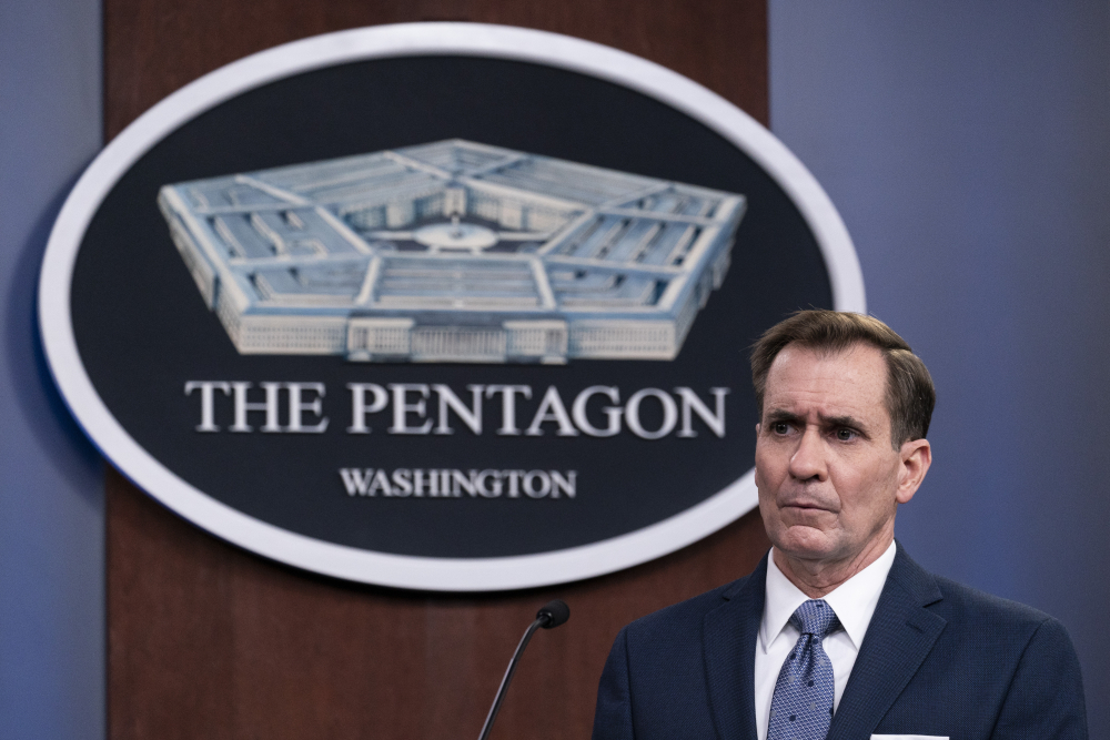 Pentagon spokesman John Kirby announced late Thursday, Feb. 25, that the U.S. military conducted airstrikes against facilities in eastern Syria that the Pentagon said were used by Iran-backed militia groups, in response to recent attacks against U.S. personnel in Iraq.