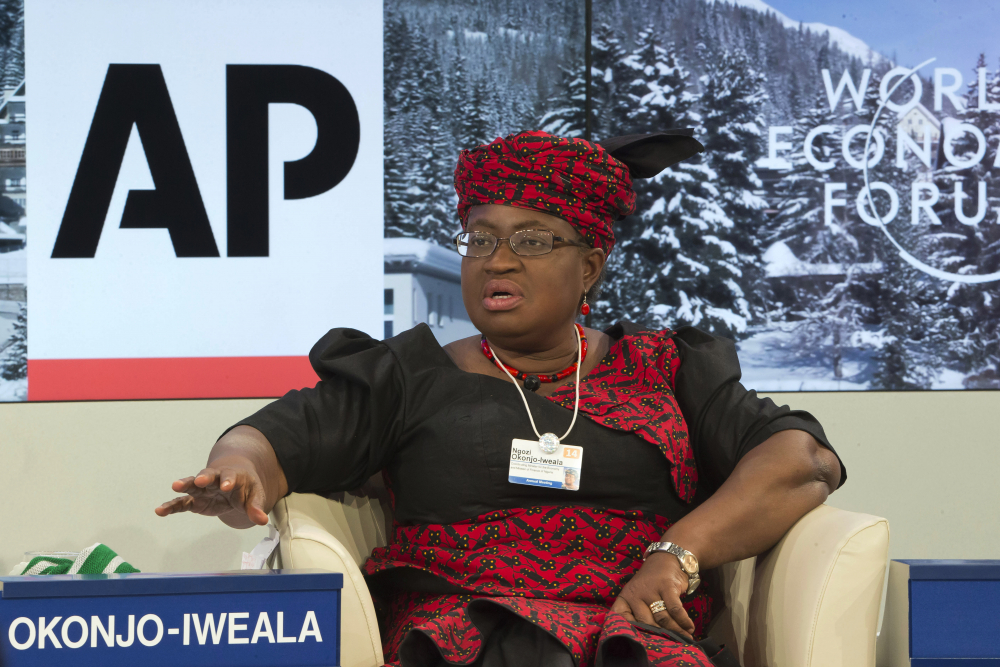 """Ngozi Okonjo-Iweala  was appointed as director-general of the World Trade Organization on Monday by representatives of the 164 member countries.  She said that as the first woman and first African to hold the post, """"I absolutely do feel an additional burden, I can't lie about that. ...But the bottom line is that if I want to really make Africa and women proud I have to produce results, and that's where my mind is at now."""""""