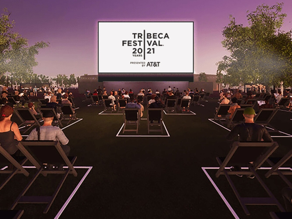 The Tribeca Film Festival is planning a big return with outdoor screenings. This rendition shows one such screening at Battery Park.