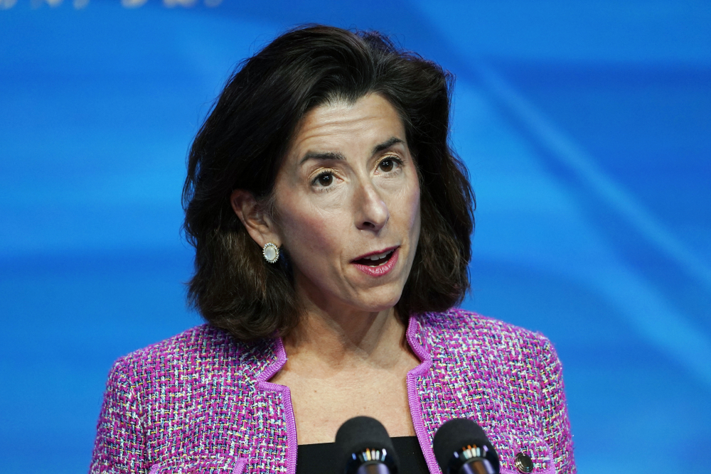 Rhode Island Gov. Gina Raimondo will be sworn in Wednesday as President Biden's commerce secretary. She will take over a department with a roughly $8 billion budget and more than 43,000 employees.