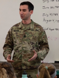 Capt. Jonathan Bratten, command historian for the Maine National Guard, selected as the U. S. Army Center of Military History's first Scholar in Residence.