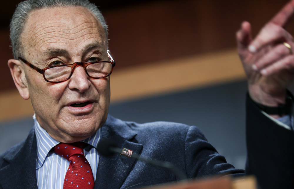 Senate Majority Leader Chuck Schumer of New York on Thursday announced steps the chamber will take after a two-week break, starting with a Senate vote on hate crimes legislation to give local law enforcement more resources.