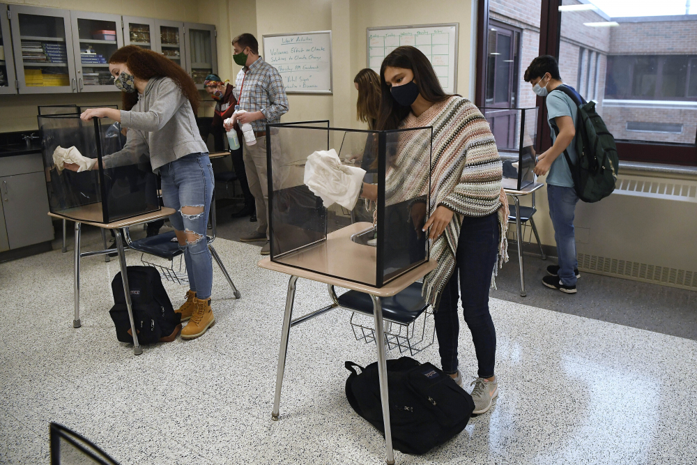 CDC relaxes school social distancing rules; desks can be closer together