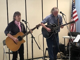 Damariscotta Open Mic performance by Sylvia Tavares and John Couch.