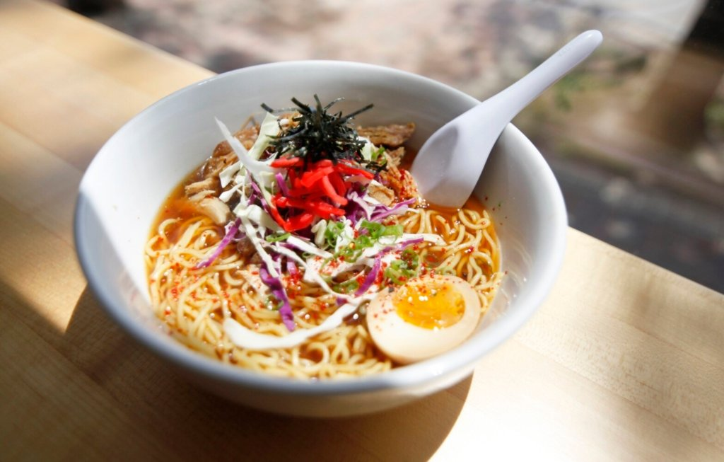 """Shoyu Ramen at Anju Noodle Bar in Kittery in 2015. Former restaurant critic James Schwartz remembered the noodle bar as """"This fabulous, absolutely tiny place, well off the beaten track for most people, and they just had it going on."""""""
