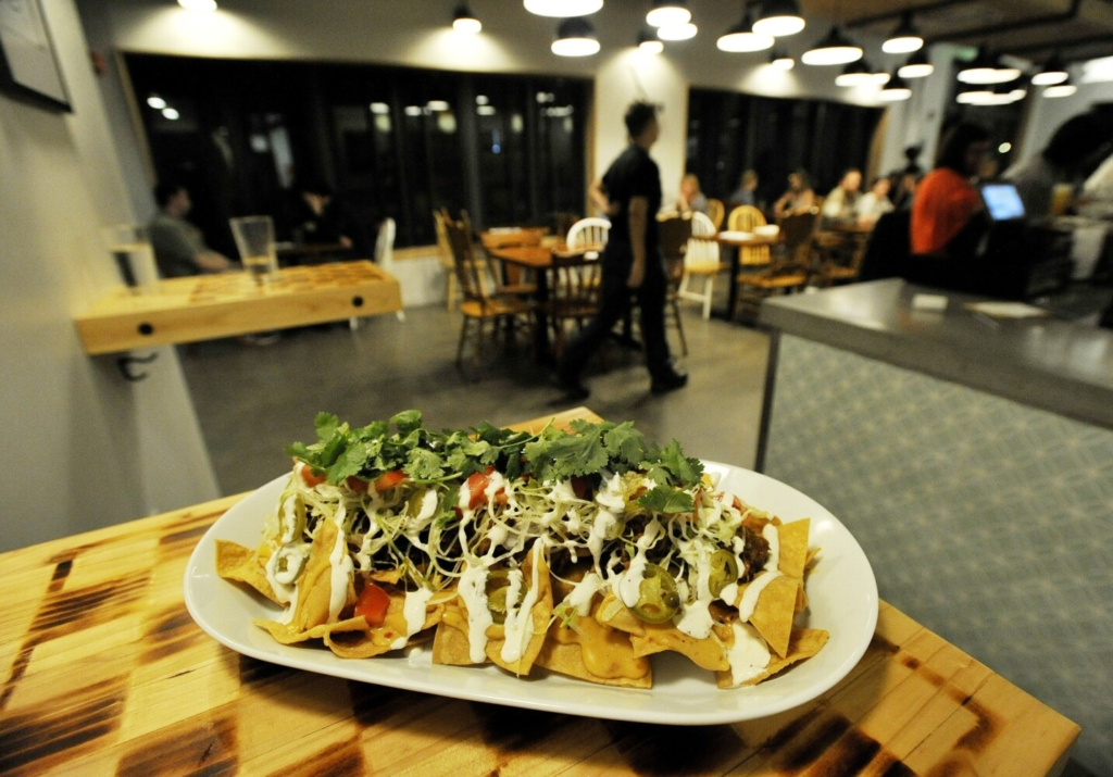 The Korean BBQ Pork Nachos at Foulmouthed Brewing. Do these indicate critic Andrew Ross' not-so-secret love of pork?