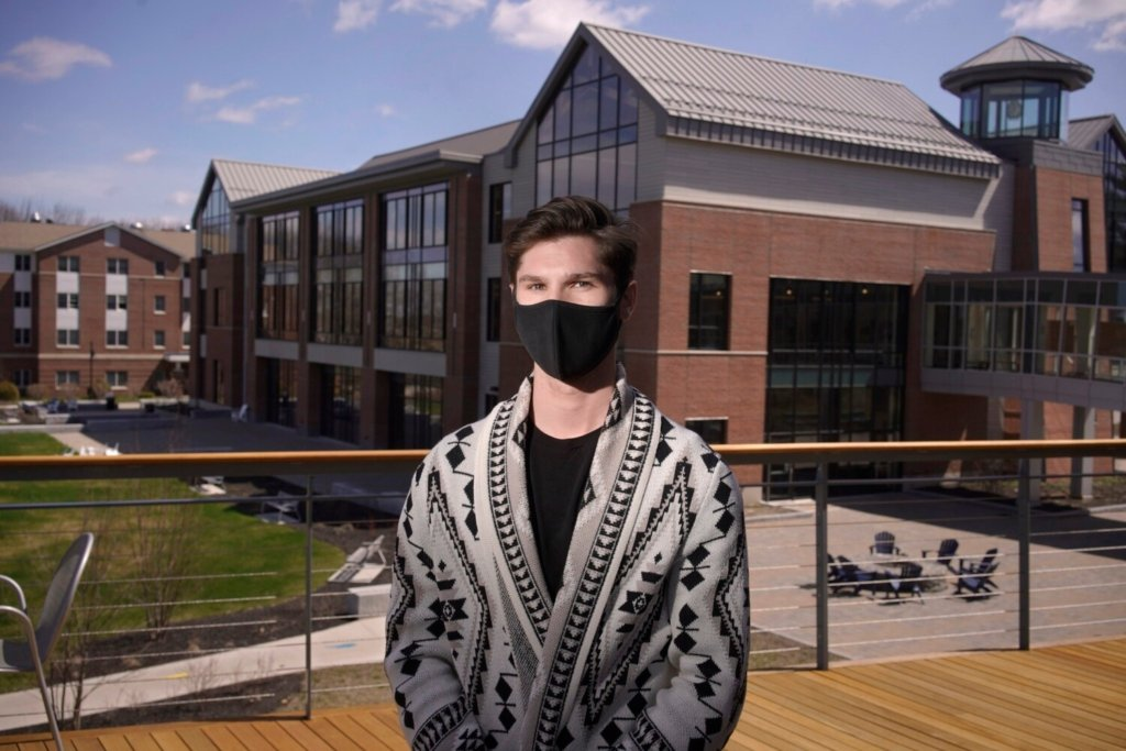 Nicholas Miles, 19, is a freshman at the University of New England in Biddeford, where he's studying medical biology. He opted not to include his SAT scores with his application to UNE and is among the first classes to be admitted under a test-optional policy at the school.
