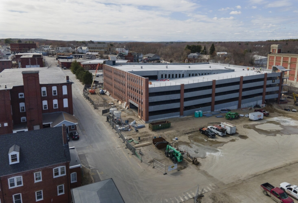 Biddeford will use a $1.2 million federal grant to improve access to the city's first municipal parking garage and surrounding buildings in the mill district.