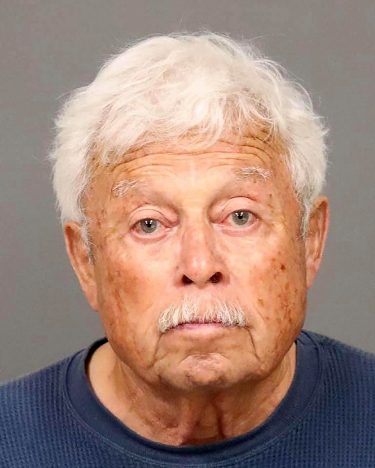 Ruben Flores 80 was arrested Tuesday. San Luis Obispo County Sheriff's Office via AP