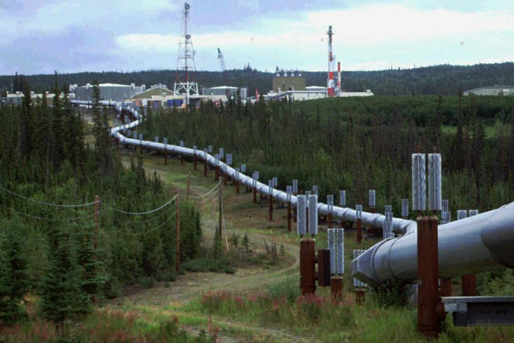 The Trans-Alaska pipeline and pump station north of Fairbanks, Alaska. Congressional Democrats are moving to reinstate regulations designed to limit potent greenhouse gas emissions from oil and gas fields.