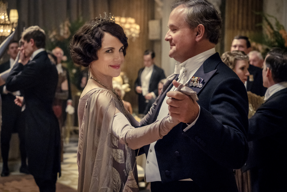 """Elizabeth McGovern, left, as Lady Grantham and Hugh Bonneville, as Lord Grantham, in """"Downton Abbey"""". The original principal cast of """"Downton Abbey"""" are returning for a second film that will arrive in theaters December 22 this year, Focus Features announced Monday."""