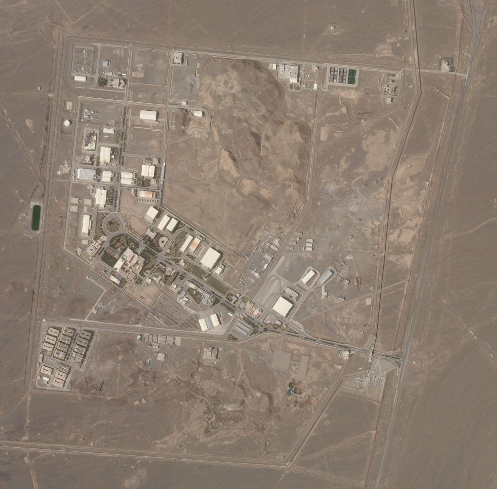 This satellite photo from Planet Labs Inc. shows Iran's Natanz nuclear facility on Wednesday, April 7.