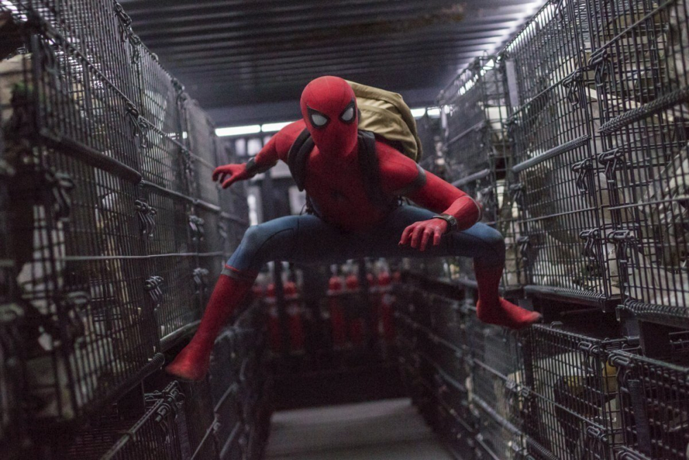 """Tom Holland in a scene from """"Spider-Man: Homecoming."""""""