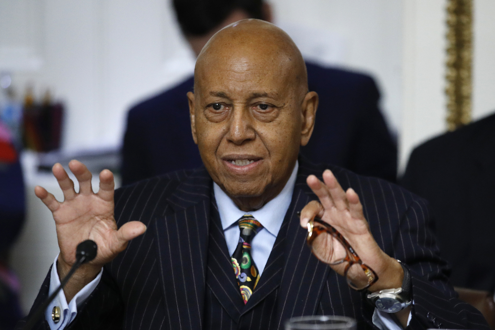 Rep. Alcee Hastings, D-Fla., speaks during a House Rules Committee hearing on the impeachment against President Donald Trump on Capitol Hill in Washington on Dec. 19, 2019.
