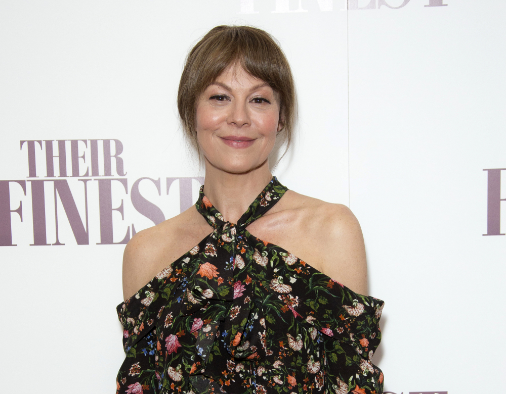 "Actress Helen McCrory at a special screening of ""Their Finest"" at the BFI in central London on April 12, 2017."
