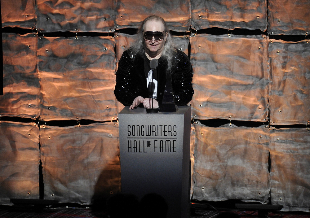 "Inductee Jim Steinman speaks at the 2012 Songwriters Hall of Fame induction and awards gala in New York on June 14, 2012. Steinman, the Grammy-winning composer and playwright who wrote Meat Loaf's best-selling ""Bat Out Of Hell"" debut album as well as hits for Celine Dion, Air Supply and Bonnie Tyler, has died, at 73."