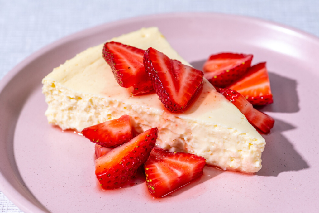 Skyr Cheesecake with Strawberries