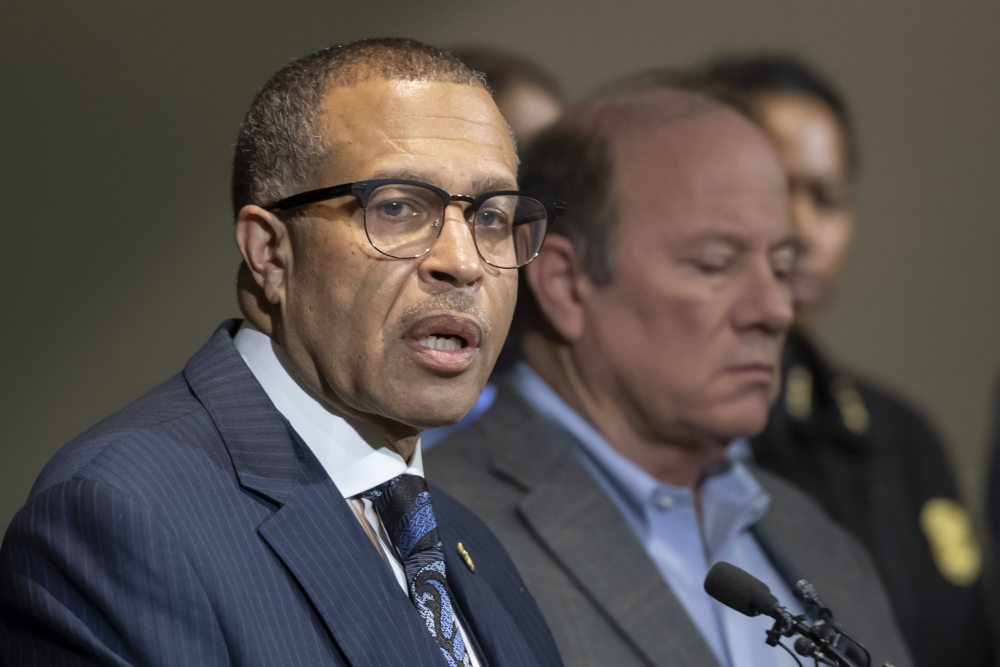 Detroit Police Chief James Craig, who formerly held the same post in Portland, is shown in 2019. He announced his retirement on Monday in Detroit and there is speculation that he might run for Michigan governor as a Republican.