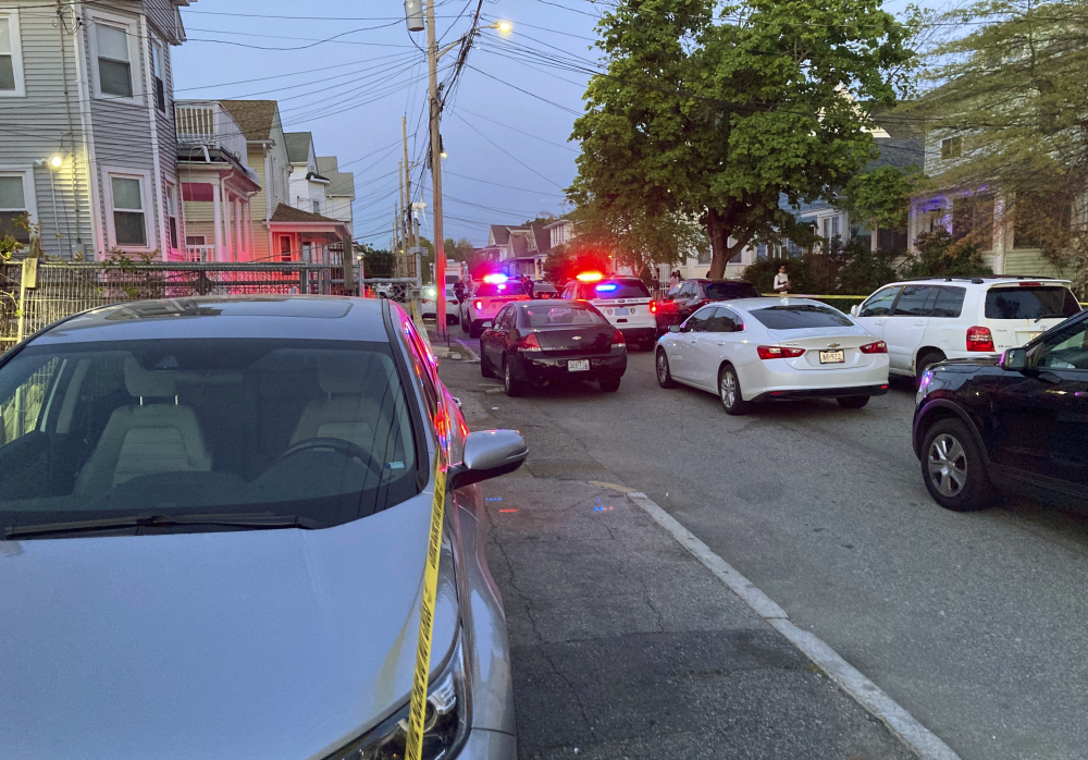 Authorities respond to the scene where multiple people were wounded in a shooting, Thursday in Providence, R.I.