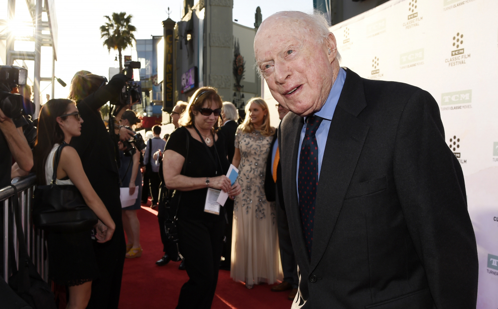 """Norman Lloyd before a 50th anniversary screening of the film """"The Sound of Music"""" at the TCM Classic Film Festival on March 26, 2015, in Los Angeles. Manager Marion Rosenberg said the actor died Tuesday at his home in L.A."""