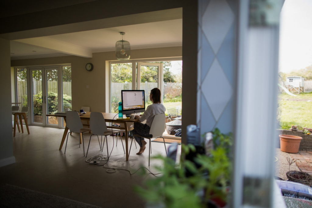 Experts are concerned the future mix of home and office work will be complicated to manage. MUST CREDIT: Bloomberg photo by Chris Ratcliffe