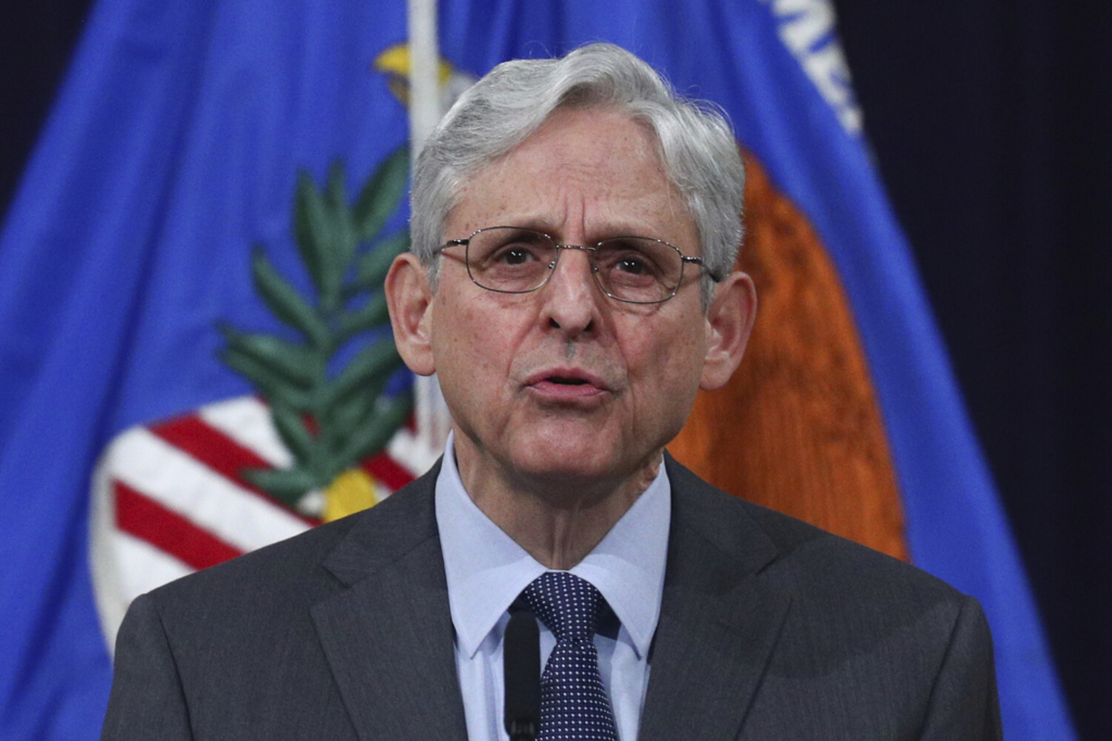U.S. Attorney General Merrick Garland speaks about voting rights at the Justice Department in Washington on Friday.