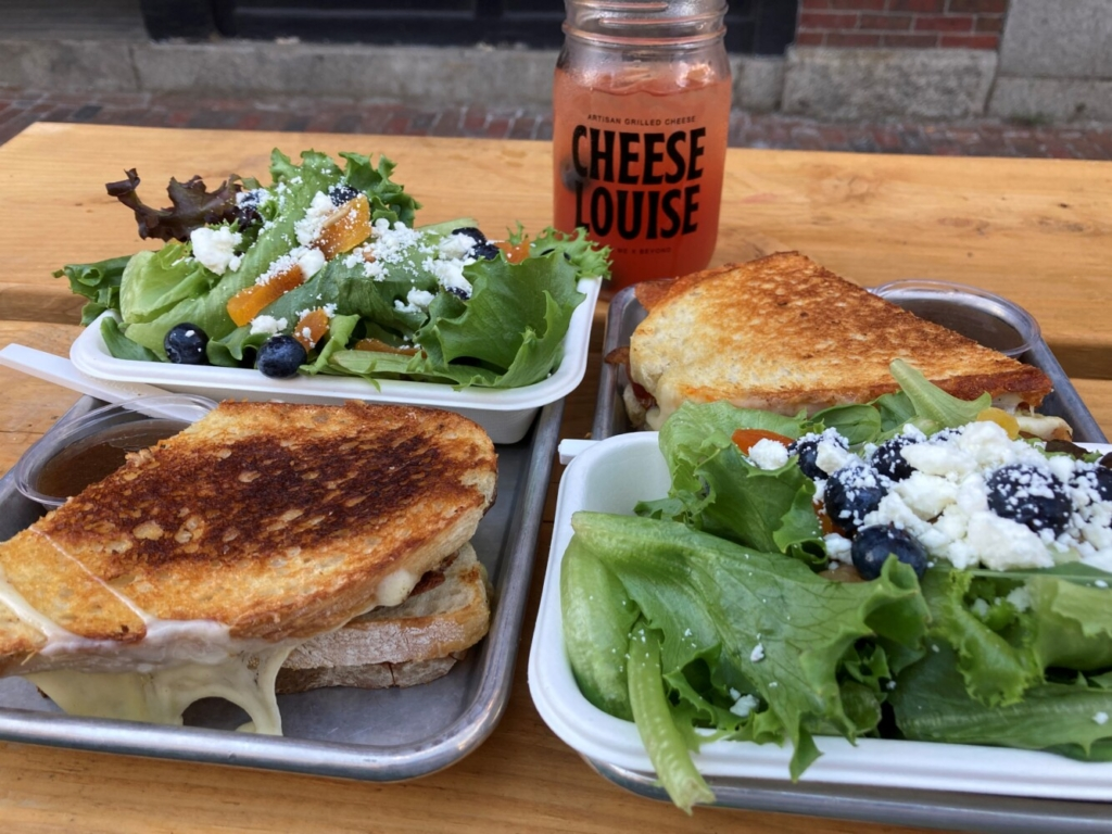 The Vermonter and The Southern Hipster at Cheese Louise in Portland's Old Port.