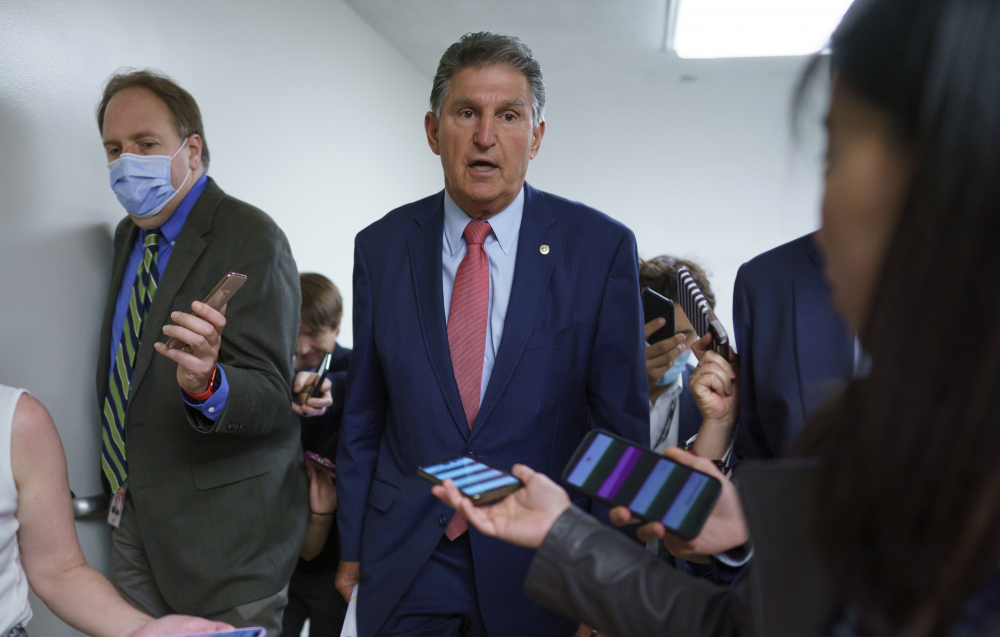 Sen. Joe Manchin, D-W.Va., says lawmakers should focus their energies on revitalizing the landmark Voting Rights Act, which was weakened by a Supreme Court decision in 2013.