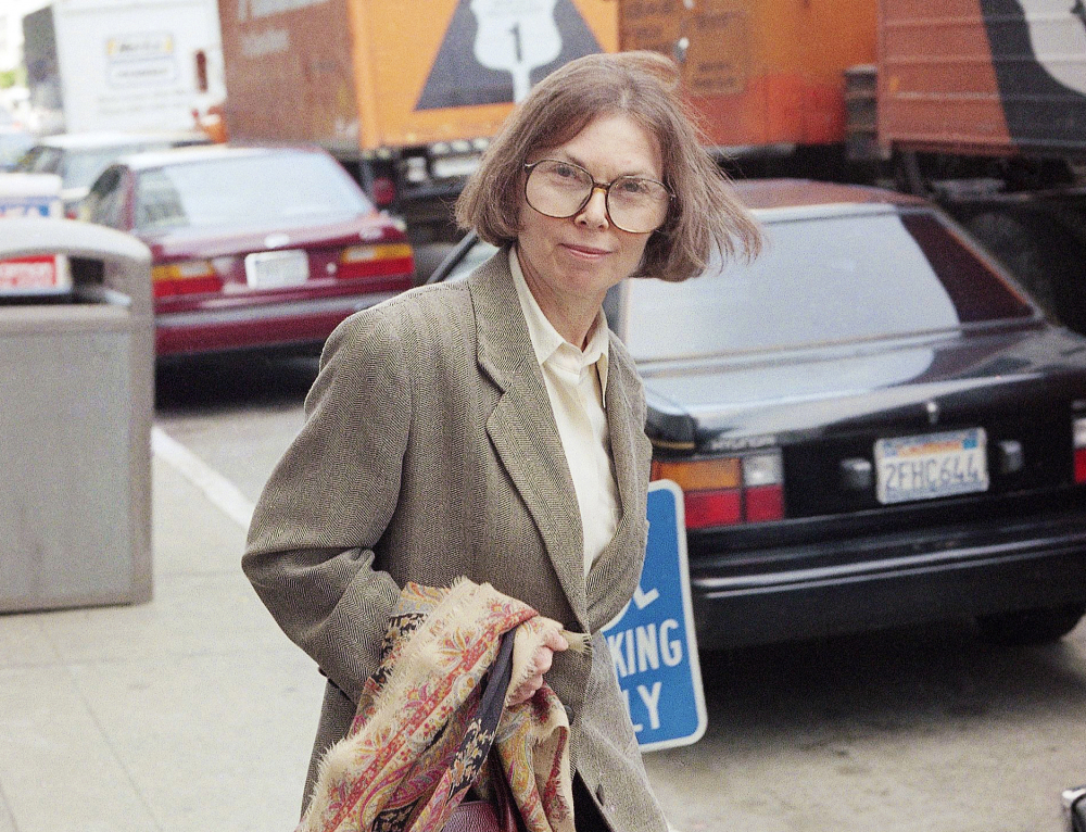 The New Yorker writer Janet Malcolm leaves the Federal Courthouse in San Francisco on June 3, 1993 in the suit trial brought by psychoanalyst Jeffrey Masson, who claims he was misquoted and libeled in a 1983 magazine article. Malcolm, the inquisitive and boldly subjective author and reporter known for her challenging critiques of everything from murder cases and art to journalism itself, has died. She was 86.