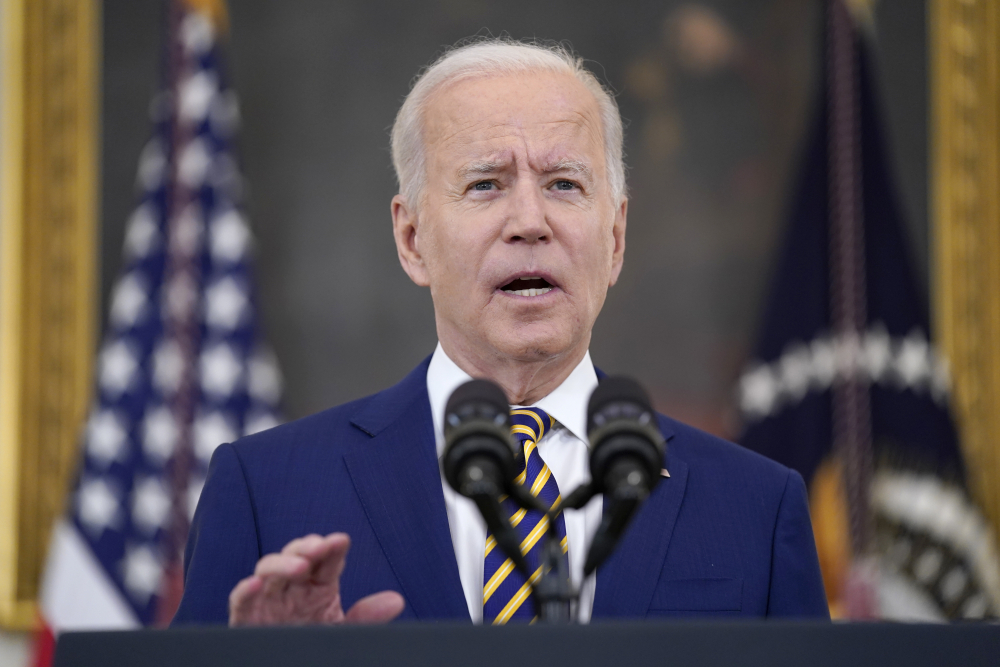 President Biden speaks about COVID-19 vaccination shots last week. The White House on Tuesday said it is now redoubling its focus on vaccinating  Americans age 18-26, who have proved to be least likely to get a vaccine when it's available for them.