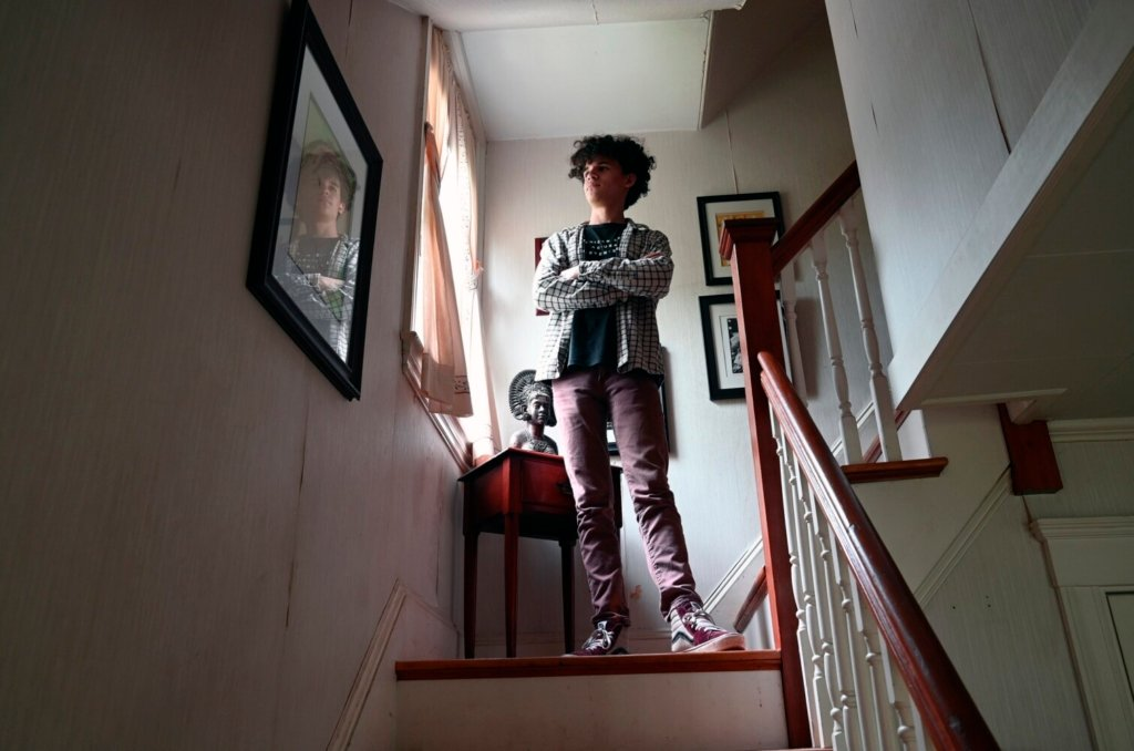 Warren Edgar, 16, at his home in Portland on Monday, said it was an easy decision to get the vaccine when he became eligible. Edgar received his vaccination in May.