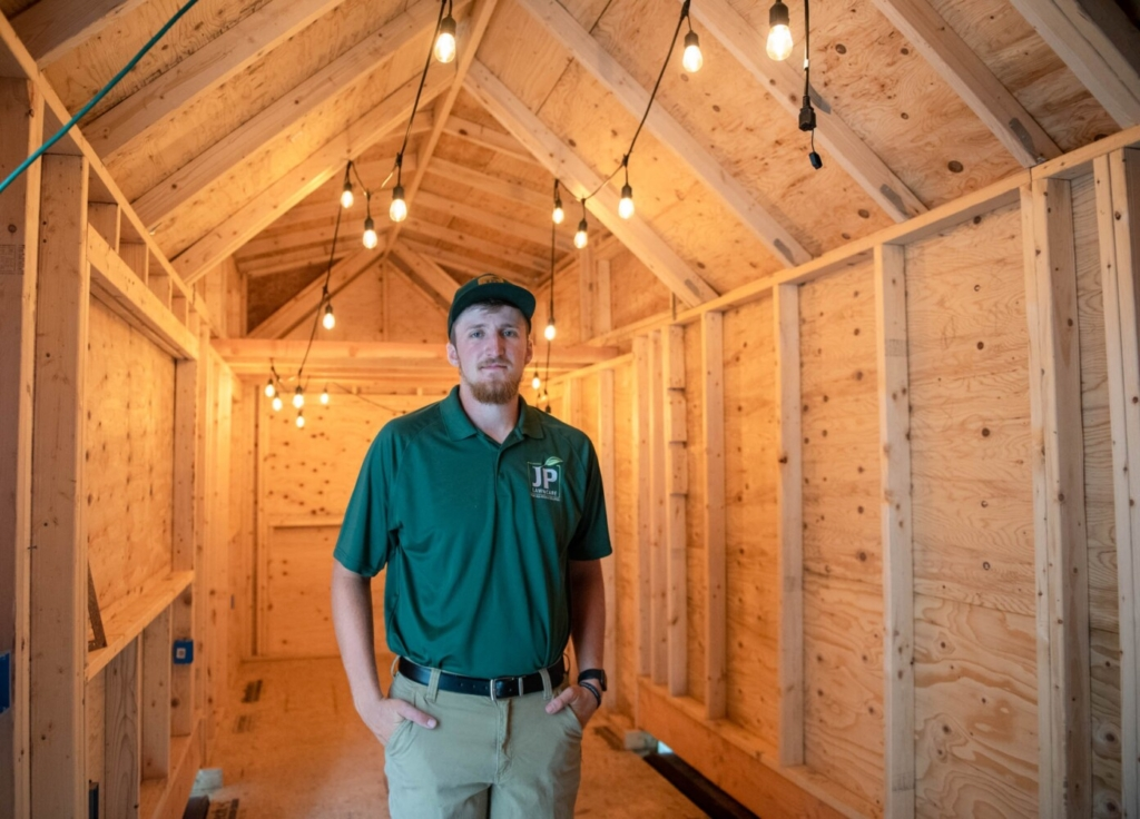 Jonah Crowell of Auburn became interested in building a tiny house after watching TV shows about them. When his girlfriend told him she had always wanted to live in a tiny house, he was determined to build one, learning about the process as he built it.