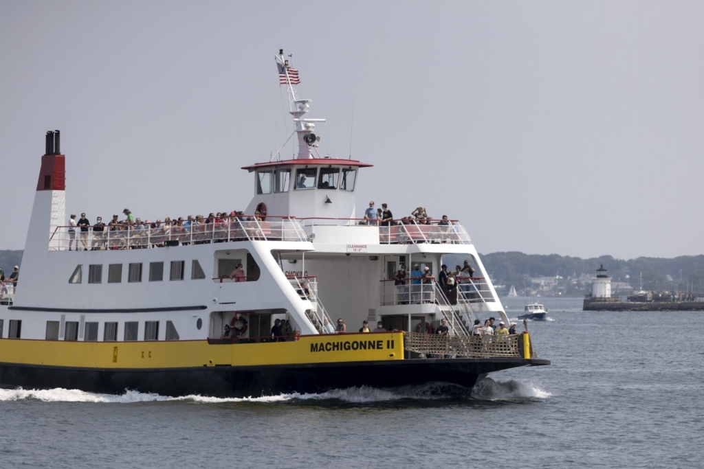 The Casco Bay ferry Machigonne II returns to the terminal from Peaks Island on Tuesday. Plans have stalled to build an eco-friendly replacement for the aging ferry because the only bid to build the new vessel was nearly 50 percent over budget.