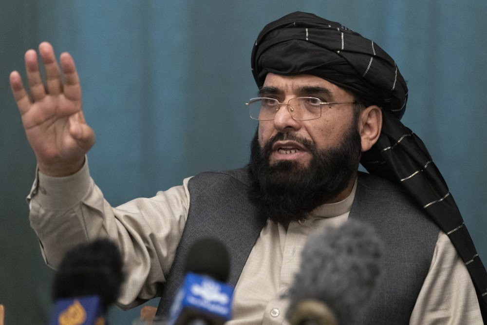 """Suhail Shaheen, Afghan Taliban spokesman and a member of the negotiation team, shown in March, said Thursday, """"I want to make it clear that we do not believe in the monopoly of power because any governments who (sought) to monopolize power in Afghanistan in the past, were not successful governments."""""""