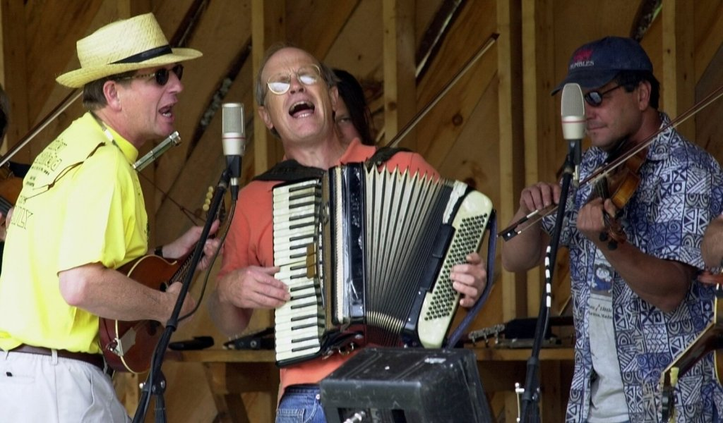John Bunker sings while playing the accordion with other members of the East Benton Jug Band during the East Benton Fiddlers Contest in 2015. The East Benton Jug Band is again performing at this year's festival on Sunday.