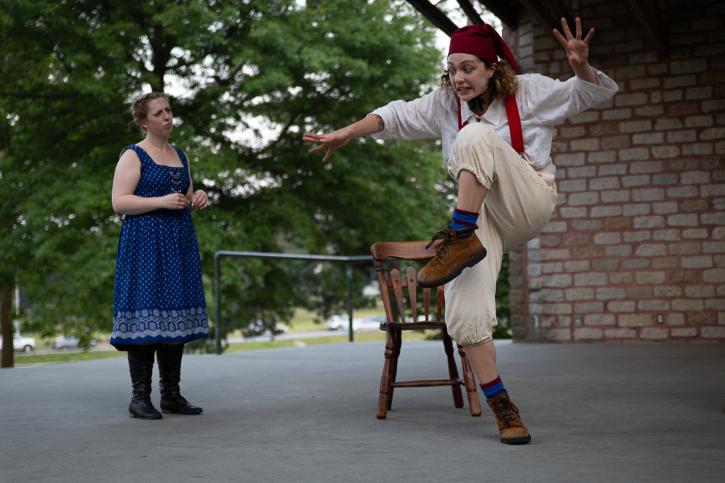 """Kat Moraros and Michela Micalizio in """"The Comedy of Errors."""""""