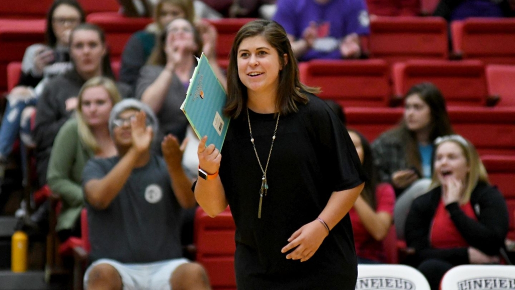 New Bates College vollyeyball coach Emily Hayes hopes to lead a young Bobcats team to more success. Hayes was previously the head coach at Lewis & Clark College.