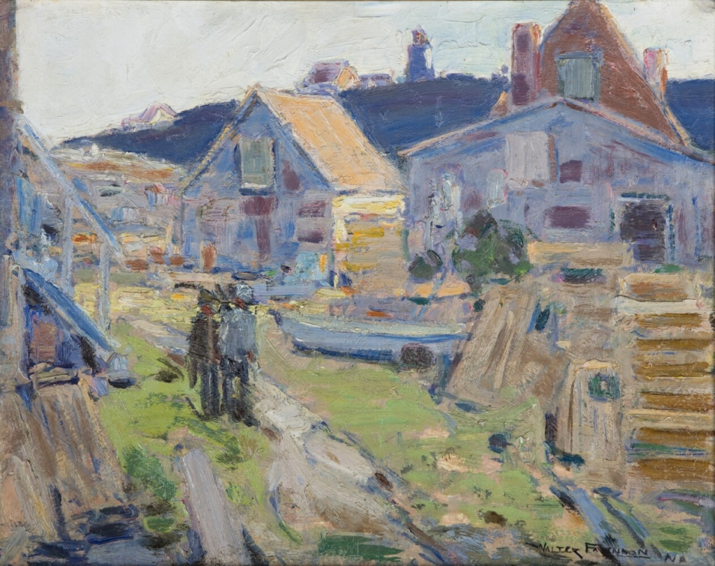 """Walter Farndon, """"Road to Fish Beach, Monhegan,"""" 1930s. Collection of Carol A. and Robert L. Stahl."""