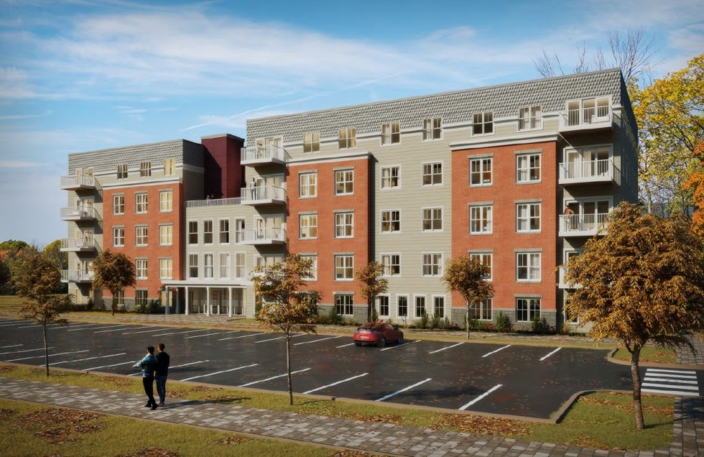 A developer is planning to add 140 condominiums for seniors in four new buildings on the former Catherine McAuley High School campus in Portland.