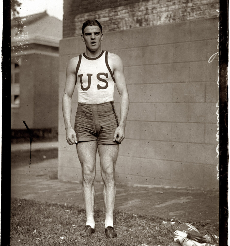 Robert Legendre, shown in 1919, was a star athlete at Georgetown University whose track and field career began in his native Lewiston, Maine.