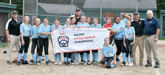 Members of the Windham Little League sotball all-stars, who will head to the Little League Softball East Regional this weekend after winning the Maine championship.