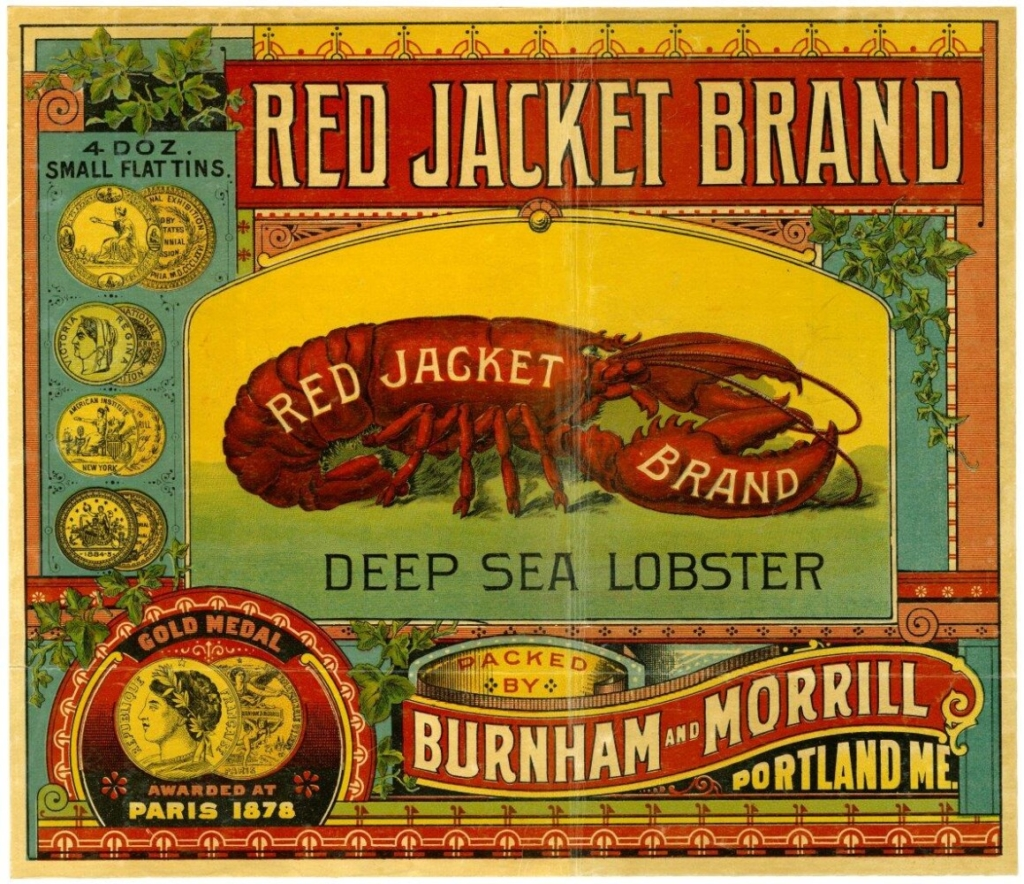 A trademark label for canned lobster. This brand won a gold medal in Paris in 1878.