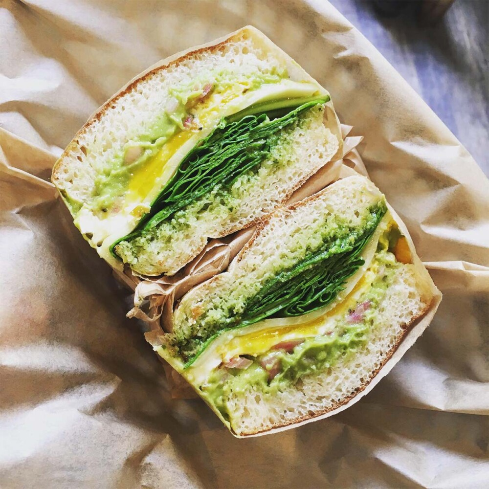 Omi's Green Goddess Breakfast Sandwich is an excellent option for your Saturday breakfast.