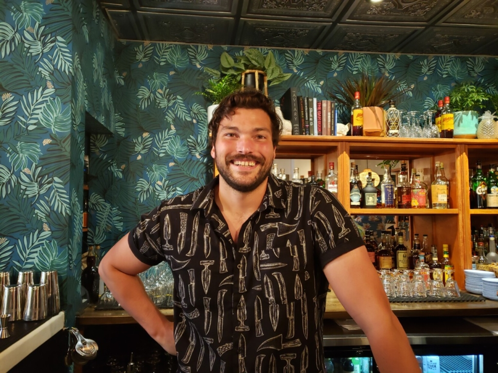 Crispy Gai bar manager Arvid Brown created cocktails to complement the spicy food and fun vibe of the new Thai fried chicken joint in the Old Port.