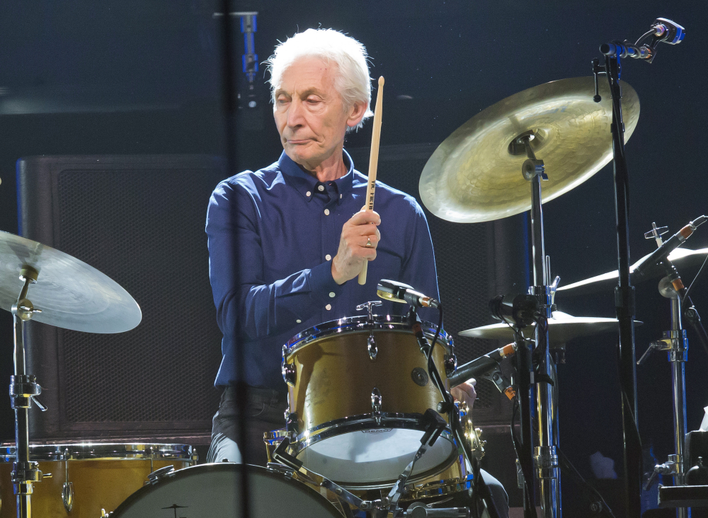 Charlie Watts of the Rolling Stones performs during a concert of the group's No Filter Europe Tour at U Arena in Nanterre, outside Paris, France, on Oct. 22, 2017.
