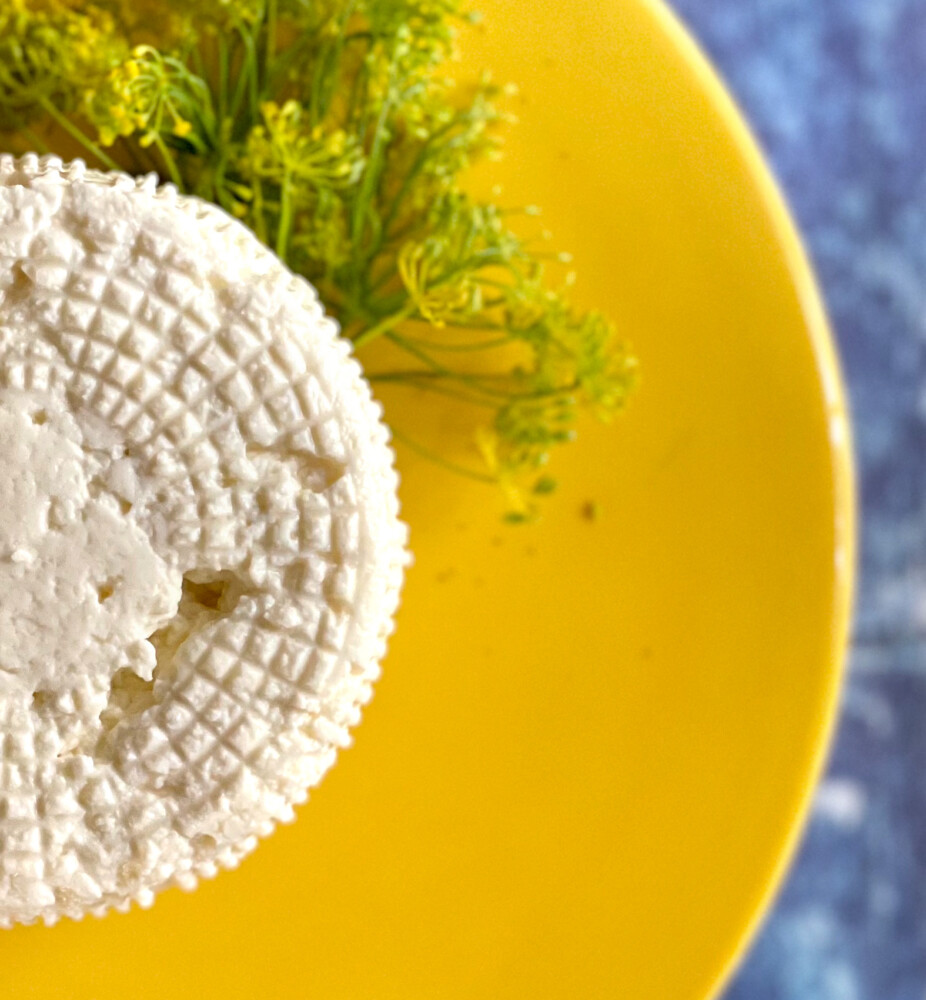 Lakin's Gorges Basket Ricotta is made from whole milk on East Forty Farm and Dairy in Waldoboro. The nooks and crannies formed in the fresh ricotta come from it sitting in a basket that allows the whey to drain from the small curds.